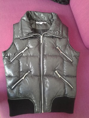 Tally Weijl Down Vest black-silver-colored