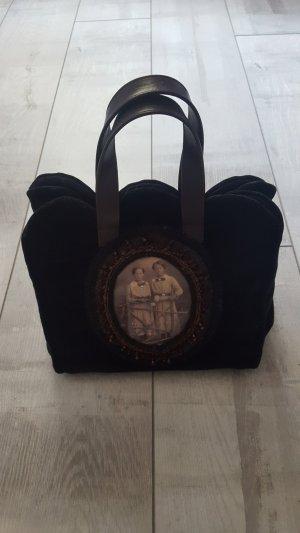 stylische Trachtentasche von ZINNOBER, schwarz, Samt, guter Zustand