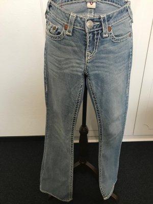 True Religion Boot Cut Jeans pale blue cotton