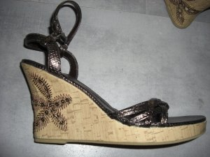 Wedge Sandals russet imitation leather