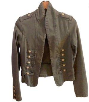 Stylische Zadig & Voltaire grüne Military Jacke / Blaser mit goldenen Knöpfen
