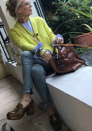 Allude Cardigan giallo lime Cachemire