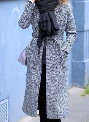 Stylischer Damen Wintermantel grau meliert von New Look Gr. 34
