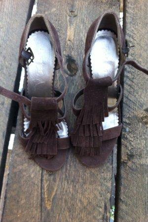 Deichmann High Heel Sandal dark brown