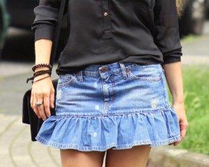 Stylischer Jeans Minirock blau im Used Look von Replay Gr. 36