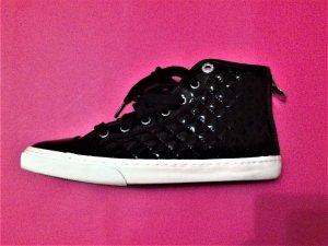 Stylischer Lack-Sneaker von Geox, schwarz, Größe 37