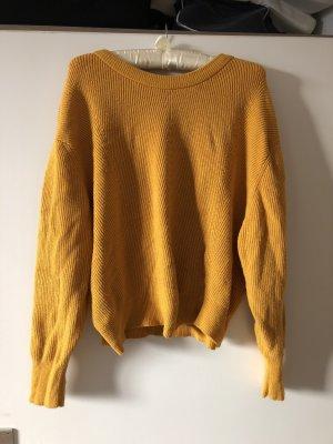 Zara Knit Pull long orange clair