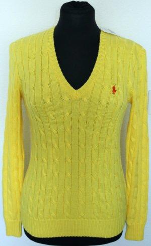 Polo Ralph Lauren Pull torsadé jaune coton