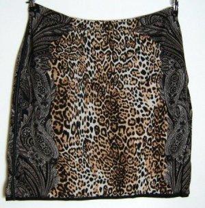 Stylischer Rock 54/56 Leoparden Paisley Print