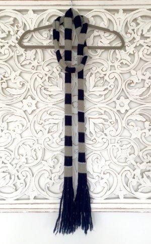stylischer schmaler Schal von PEPE JEANS * Wolle * hellgrau blau silber