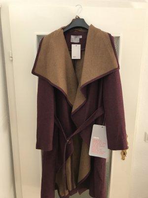 Asos Manteau en laine brun pourpre-marron clair
