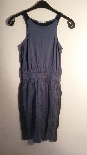 stylisches Baumwollkleid / COS / blaugrau / Größe XS / midi