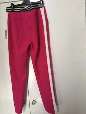 Pantalone chino rosa-bianco