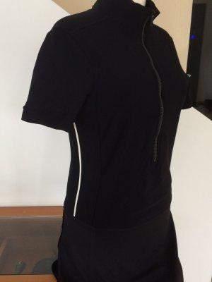 Prada Vestido elástico negro-blanco tejido mezclado