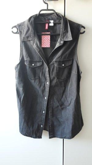 Stylisches,graues Jeanshemd ohne Ärmel,neu mit Etikette!