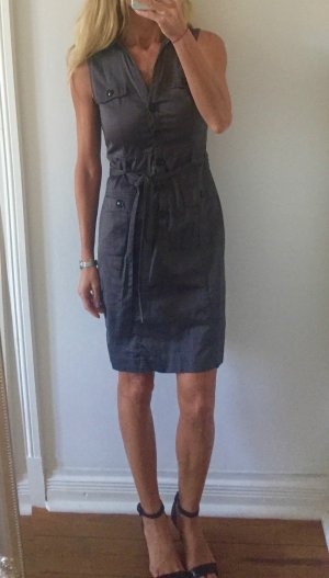 stylisches graues Minikleid von H&M mit Knöpfen * Gr. S 36