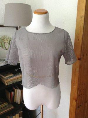 Stylisches graues Netzhemd
