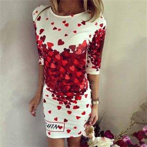 Stylisches Kleid in gr 38/40 Neu Farbe Weiss Rot