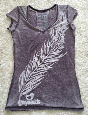 Stylisches Kurzarm Shirt Lila von Gwynedds Gr. XS