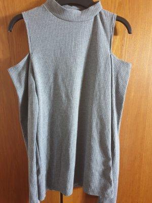 Amisu Off-The-Shoulder Top light grey
