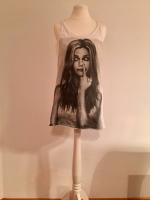Stylisches Long-Top, Fotoprint