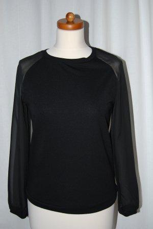 stylisches schwarzes Sweatshirt von Items / Vero Moda in Gr. XS / S / 36