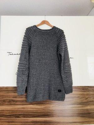 Abito di maglia antracite-grigio