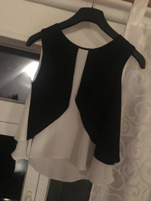 Stylisches Top schwarz /weiß