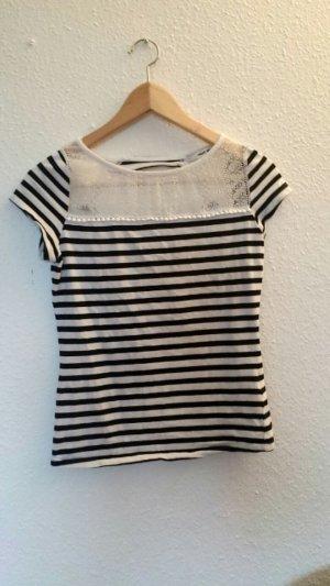Stylisches Tshirt von tally Weijl in Größe XS mit Rückenausschnitt