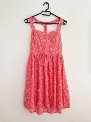 Stylisches Vintage-Sommerkleid mit Retro-Print