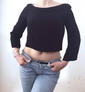 Stylisches Zara Top schwarz, Gr XS 34