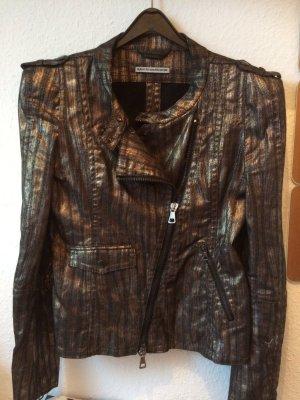 Stylish glamouröse Blazer Jacke von Drykorn Gr.36 schwarz/Gold