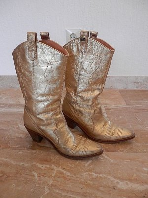 Buffalo London Western Boots gold-colored