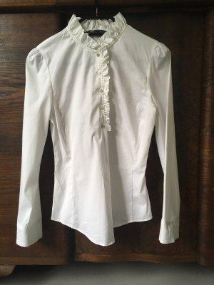 Zara Woman Ruche blouse wit