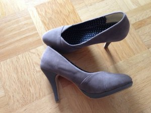 Stylishe graue Pumps, Friis&Company, 36, Velours