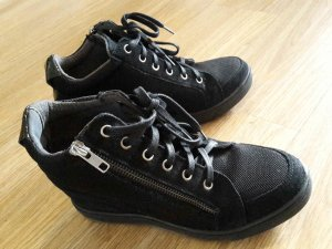 Wedge Sneaker black-silver-colored