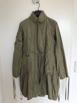 PLUSMINUS created by Chiemsee Trench Coat green grey cotton