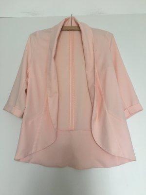 Stylisher rosa Long-Blazer Orsay, 32, 3/4 Ärmel, umgefüttert