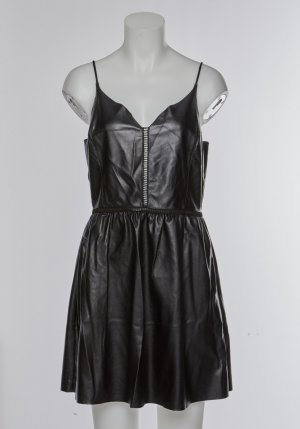 Zara Leather Dress black imitation leather