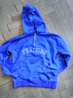 Hooded Sweater blue-white synthetic material