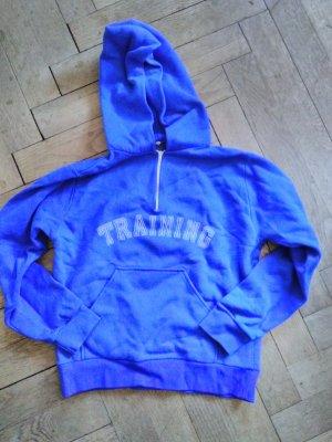 Jersey con capucha azul-blanco Material sintético