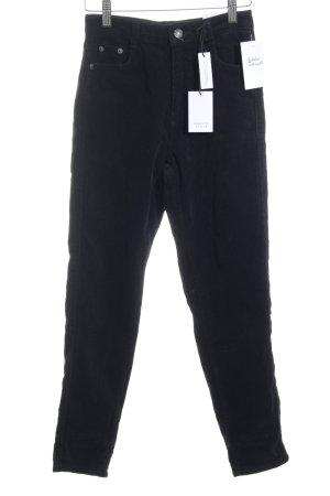 """Subdued Pantalone di velluto a coste """"boyfriendfit"""" nero"""