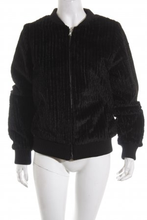 Subdued Fur Jacket black casual look