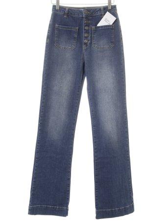 Subdued High Waist Jeans blau Casual-Look
