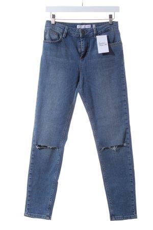 "Subdued High Waist Jeans ""Skinny High Waist"" stahlblau"