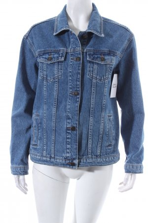 Subdued Jeansjacke blau-wollweiß meliert Casual-Look