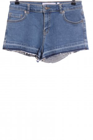 Subdued Denim Shorts blue casual look