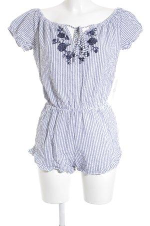 Subdued Jumpsuit blau-weiß Blumenmuster Romantik-Look