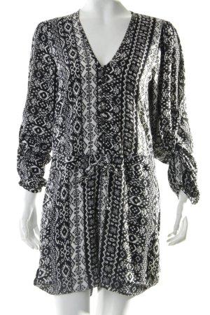 Subdued Jumpsuit schwarz-weiß Ornamentenmuster
