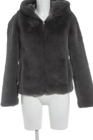 Subdued Fake Fur Jacket grey fluffy